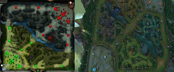 dota 2 map layout vs league of legend map layout