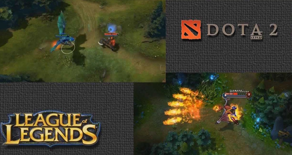 dota basic game display vs league of legend