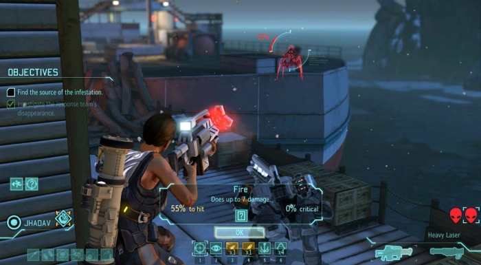 View of XCOM 2 while played on gaming pc