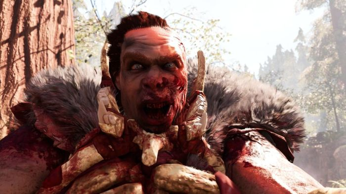 Far Cry Primal Game, played on gaming laptop