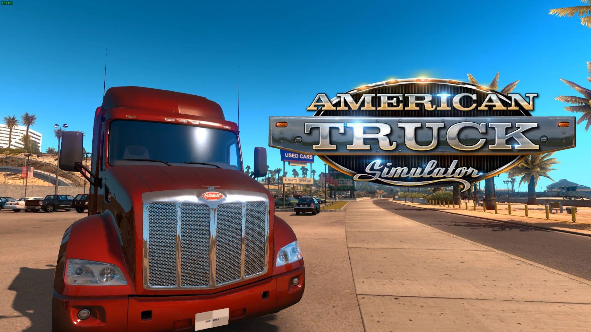 Playing american truck simulator on gaming laptop