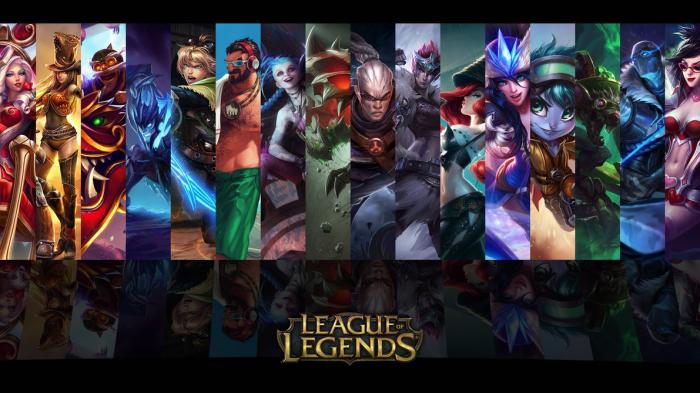 ADC Champions played on gaming laptop from League of Legends