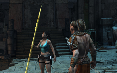 LARA CROFT AND THE GUARDIAN OF LIGHT (2010) In Game Look
