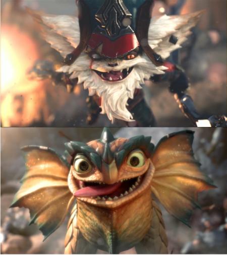 Kled looks like toothless