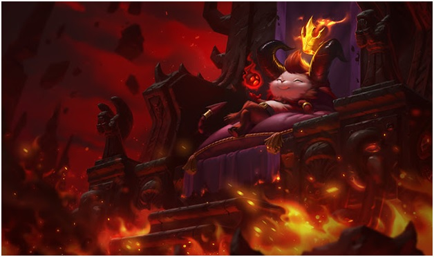 play little devil teemo on league of legends