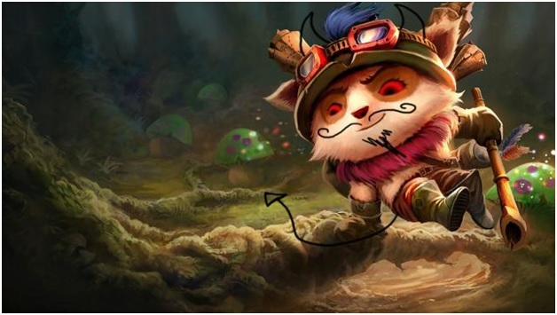 playing teemo on league of legends