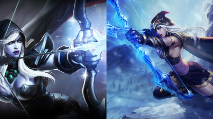 Drow Ranger and Ashe