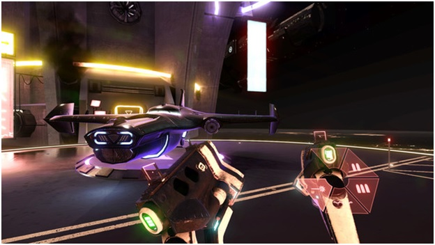 Space pirate trainer on vr
