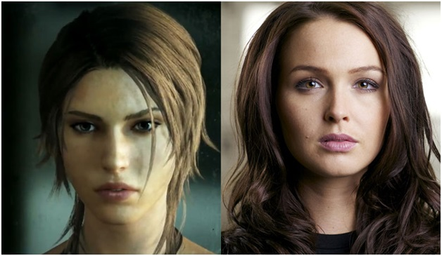 Camilla Luddington plays as Lara Croft