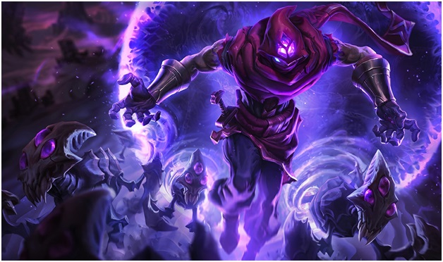 Malzahar, the champion with the highest base damage along with all mages