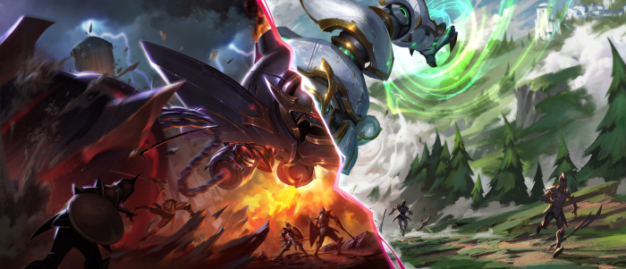 Blitzcrank two new skins shown in Riot as played in a gaming pcs.