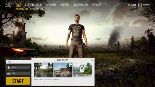 PUBG ms interface