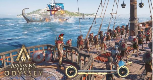 Assassin's Creed - Odyssey Naval Combat's Screenshot In A Gaming Laptop
