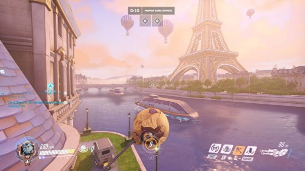 Overwatch Paris map gameplay