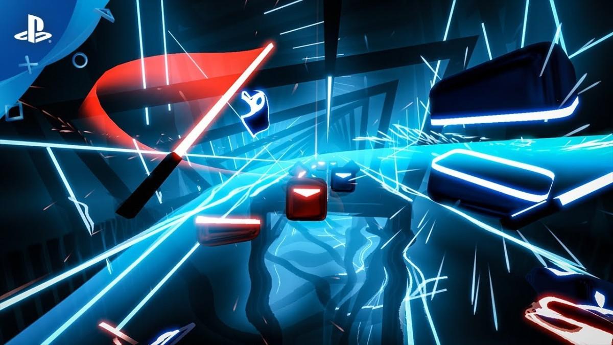 Beat saber played in gaming pc.