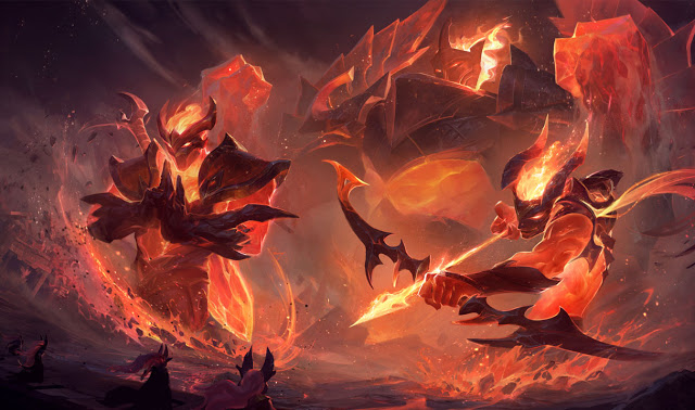 Launched of league of legends Infernal skins for your gaming pc.